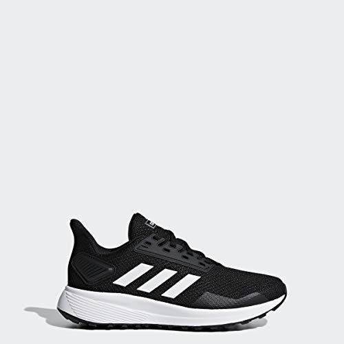 adidas Kids Unisex's Duramo 9 K Wide Running Shoe, Black/White/Black, 6