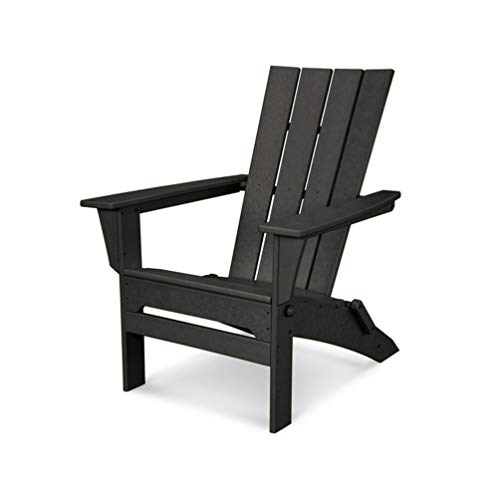 - POLYWOOD QNA110BL Adirondack Chair, Black