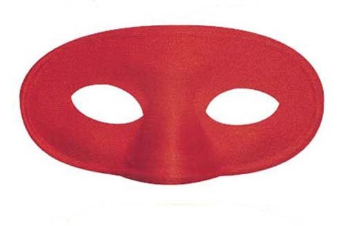RetailZone (Fancy Dress) Red Eye Mask Eyemask Super Hero Demon Halloween (Red Eye Mask)