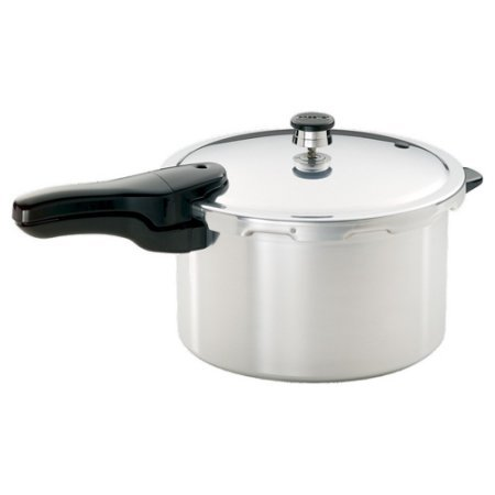 Strong, Heavy-Gauge Aluminum Pressure Cooker, 8-Quart Liquid