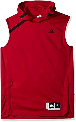 adidas Adult Men NCAA On Court Sleeveless Shooting Shirt, Large, Power Red, Nebraska Cornhuskers