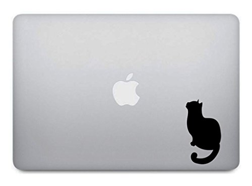 Black Cat #2 Macbook Decal - Kitten Kitty Sticker Removable Vinyl Skin for Apple Macbook Pro Air Mac Laptop - G009K
