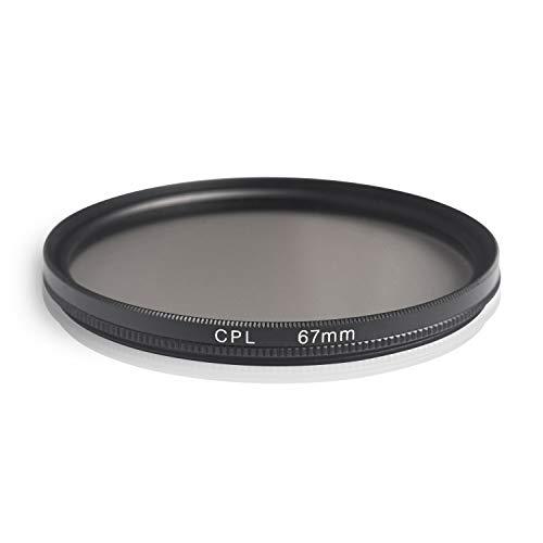 Ares Foto® Filtro de polarizacion Circular. Circular Polarizing Filter. Fabricado en Aluminio y Vidrio optico. para Canon Sony Nikon Fujifilm Pentax Tamron Sigma Leica Olympus Panasonic (67mm)