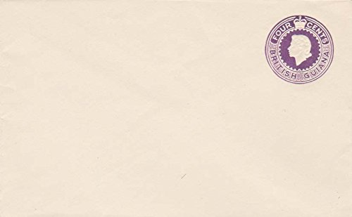 British Guiana Higgins and Gage B11 4c QEII Postal Stationery Envelope. Unused.
