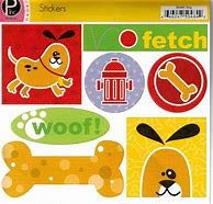 Pebbles Dog Cardstock Stickers