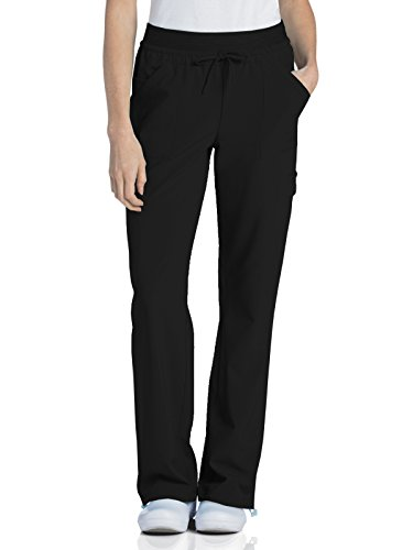 Urbane Performance 9324 Quick Cool Knit Waist Cargo Jogger Scrub Pant (Black, X-Large Petite)