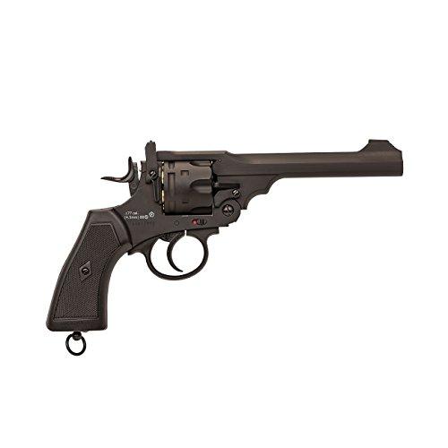 Webley WRVXSB177FAC MK6 BB Revolver Air Gun, .177 Caliber, Black