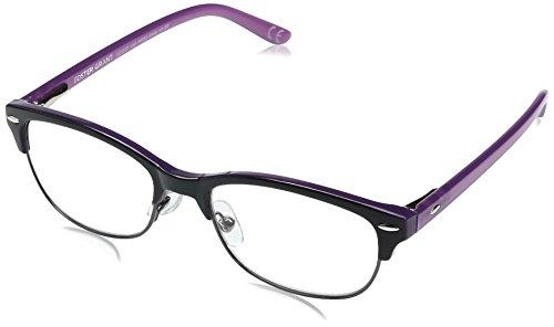 Foster Grant Women's Cleo 1017868-275.COM Round Reading Glasses, Purple, - Framed Glasses Purple