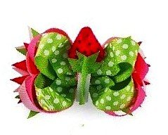 Baby Girls Hair Accessories -3-In-1 Bow - STRAWBERRY- 355026 (Mud Pie Strawberry compare prices)
