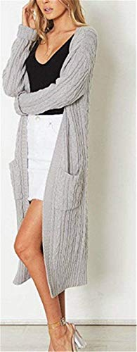Invernali Betrothales Giacca Donna Grau Autunno Cappotto Cashmere A Maglia roexBWdC