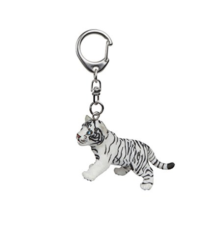 (Papo White Tiger Cub Key Ring,)