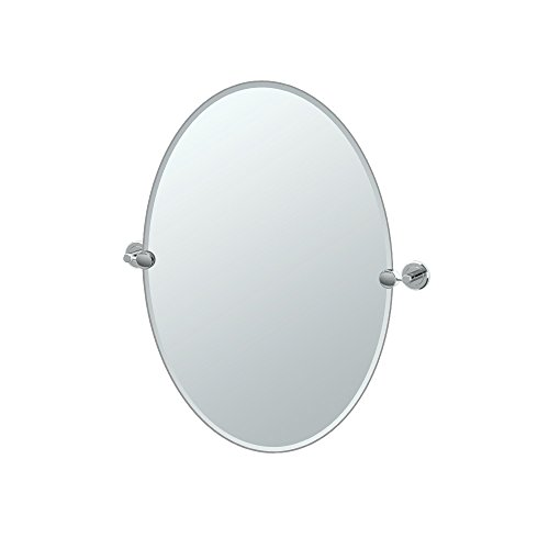 Gatco 4249 Latitude II Oval Mirror, Chrome