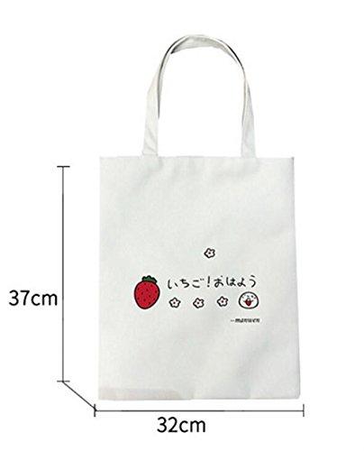 Handbag Visage Femme File Bandoulière Fourre Shopping Sacs De Blanc Heureux tout À Toile Sac En Simple qzw6RH