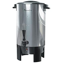 Continental Electric CP43699 30-Cup Stainless Steel Single Coffee Wall Urn, Silver