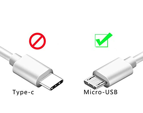 Kindle fire Charger Cord Replacement Extra Long Compatible Amazon Fire Tablet HD HDx, Fire HD 8, Fire 7 10&Kids Edition,2PACK 6FT USB Charging Cable-White