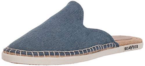 SeaVees Women's Ocean Park Mule Sneaker, Washed Denim, 8 M US ()