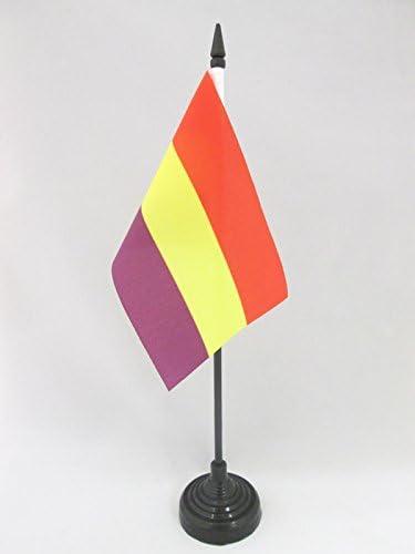 AZ FLAG Bandera de Mesa ESPAÑA Republicana SIN Escudo 15x10cm - BANDERINA de DESPACHO DE LA Republica ESPAÑOLA 10 x 15 cm: Amazon.es: Jardín
