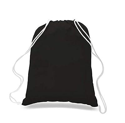 Eco Online Market (12 Pack) 1 Dozen Assorted Color Bags Set, Budget Friendly Sport Drawstring Backpack%100 Cotton Bags for Sport,Gym or Promotional Plain Backpacks