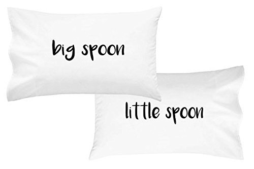 Best 2016 Couples Halloween Costumes (Oh, Susannah Big Spoon Little Spoon V2 Couples Pillowcases Bold Font (2 King Pillowcases) His Hers Funny Couple Gifts, Romantic Gifts, Boyfriend Girlfriend Gifts, Valentines Day Gift)