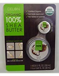 Delon Organic 100& Shea Butter 5.1fl. oz. with Travel Size 0.68fl. oz.
