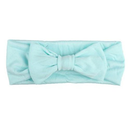 Freshzone Baby Girls Cute Rabbit Bow Ear Hairband Headband Knot Head Brand (Mint Green)