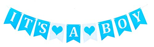 Gihanga It's A BOY Banner for Baby Shower Party Decoration Big Sale Blue and White (Its A Boy Banner)