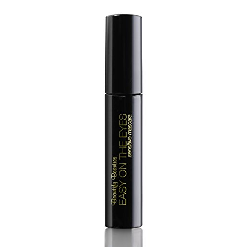 EASY ON THE EYES Sensitive Eye Mascara, Navy (0.35 oz) By Beautify Beauties. Gives You Natural Looking Lashes. Non irritating, Great for Sensitive Eyes, Fragrance-free