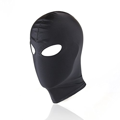 HOT TIME Black Breathable Face Cover Spandex Zentai Costume Hood Mask