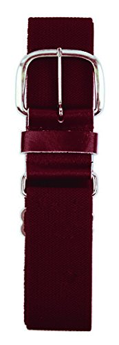 (Champro Elastic Baseball Belt with 1.5-Inch Leather Tab (Cardinal, 28-52-Inch))