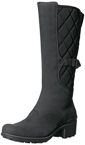 Knee High Pull (Merrell Women's Chateau Tall Pull Waterproof Snow Boot, Black, 6.5 M US)