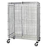 Quantum Storage Solutions - Stem Caster Security Unit - - - - 24''W x 60''L x 69''H - 1 Interal Shelf - 1 - Chrome - Part Number:M2460-69SEC