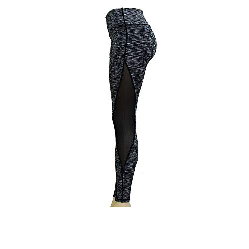 Real Power Womans Leggings Training/Workout/Yoga/Running/Empower Yourself! Grey, Small