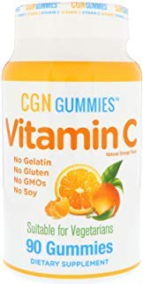 California Gold Nutrition, Vitamin C Gummies, Gluten-Free, Non GMO, No Gelatin, Natural Orange Flavor, 90 Gummies ()