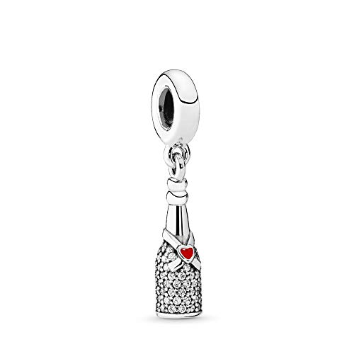 PANDORA Celebration Time Dangle Charm, Sterling Silver, Red Enamel & Clear Cubic Zirconia, One Size