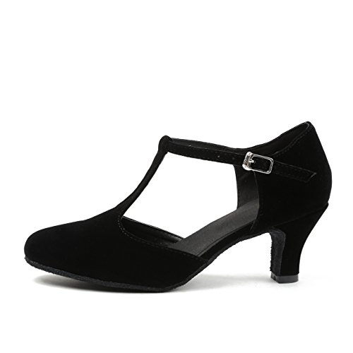 Sandals Tango Suede Dance Low Toe MINITOO Heel Latin 8 UK Salsa Closed Black M Womens QJ6132 Ballroom wqx0OF