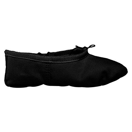 Sasairy Frauen / Damen Ballettschuhe Erwachsene weich Spitzenschuhe Ballet Trainings Schläppchen Schuhe in den Größen 39-42 mit Schwarz/ Haut Schwarz