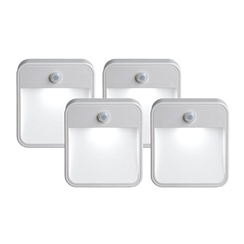Mr. Beams MB724 Battery-Powered Motion-Sensing LED Stick-Anywhere Nightlight (Pack of 4) (Detector Beam)