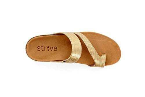 Strive Footwear Damen Sandalen Gold Embossed