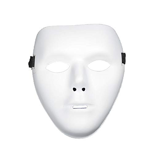 Simple Mask of Halloween Celebration Mask Props Party Supplies for Man Decor (White) 1PCS -