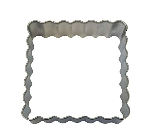 ShopForAllYou cookie cutters Fluted Square 2.75'' Cookie Cutter NEW! Biscuit Tea Sandwich