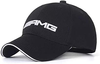 White JDclubs AMG Logo Embroidered Adjustable Baseball Caps for Men and Women Hat Travel Cap Car Racing Motor Hat