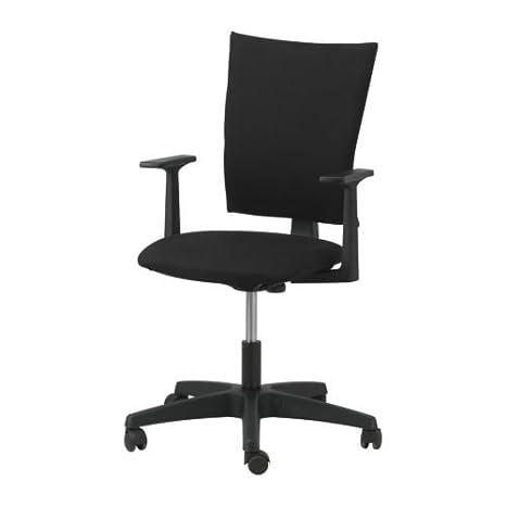 Amazon.com: IKEA Klemens – Sillón giratorio, tapizado negro ...