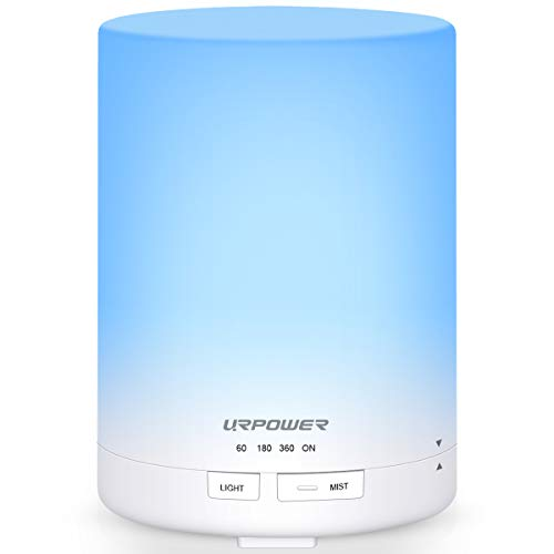 URPOWER 2nd Generation 300ml Aroma Essential Oil Diffuser Ultrasonic Air Humidifier with AUTO Shut...