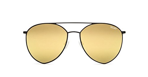 Quay x Jasmine Indio Mirrored Sunglasses (Black, Gold - India Sunglasses