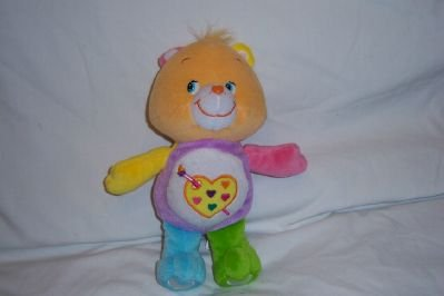 Care Bears Work of Heart Bear Stuffed Plush Toy 2005 Play Along 10 Inch (2005 Care Bears)