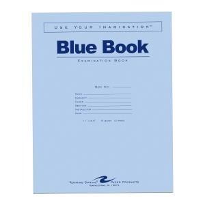 Bulk Exam Blue Books 6 Sheet/12 Page, Wide Margin 11''x8.5'': Roaring Spring 77516 (500 Exam Books) by Roaring Spring