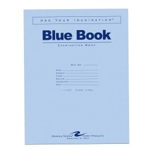 Bulk Exam Blue Books 6 Sheet/12 Page, Wide Margin 11''x8.5'': Roaring Spring 77516 (500 Exam Books)