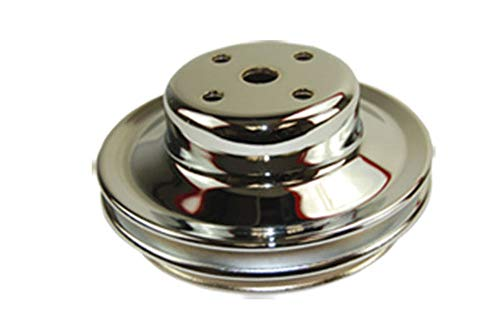 Pirate Mfg BBC Chevy 396-454 Chrome Steel LWP Double Groove Water Pump Pulley ()