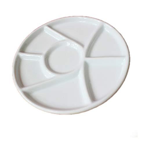 - Chiloskit Ceramic Watercolor Palette Tray Porcelain Watercolor Painting Porcelain Palette for Painters Students or Art Studio (Round(9