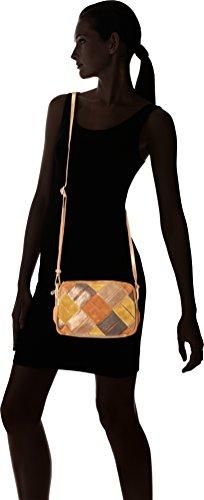 Mila Louise - Odyle Safran, Bolsos bandolera Mujer, Jaune (Safran), 5x18x25 cm (W x H L)